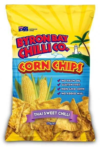 Byron Bay Chilli Thai Sweet Chilli Cornchips  12x175g