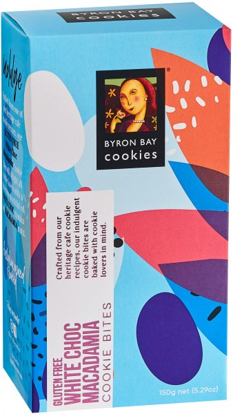 Byron Bay Cookies Celebrations White Choc Macadamia Cookie Bites  150g