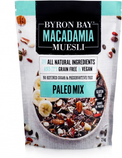 Byron Bay Macadamia Muesli Gluten Free Paleo Mix 2kg