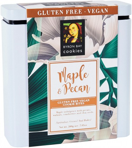 Byron Bay Maple & Pecan Cookie Bites Gift Tin  200g