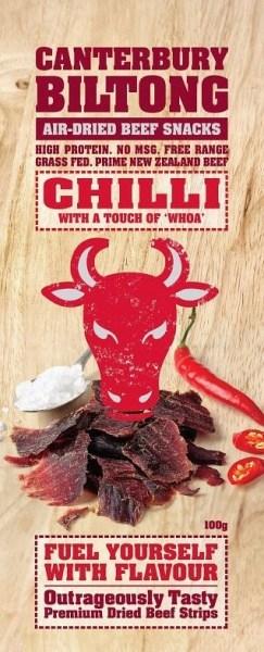 Canterbury Biltong Chilli A/D Beef 100g