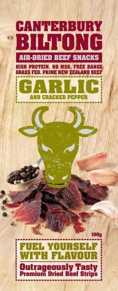 Canterbury Biltong Garlic A/D Beef 100g