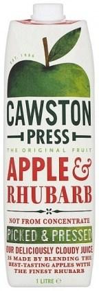 Cawston Press Apple Juice  Apple & Rhubarb 1L
