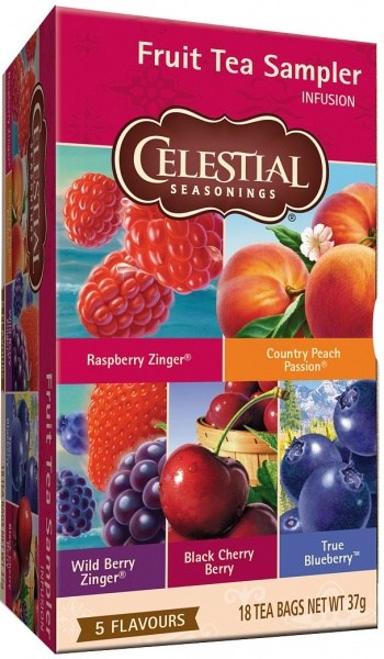 Celestial Seasonings Fruit Tea Sampler (5Flavours) 18Teabags