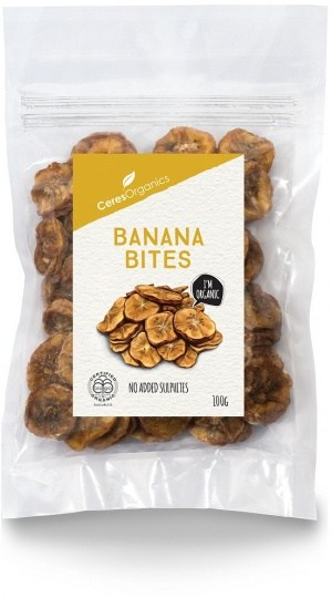 Ceres Organics Banana Bites 100g