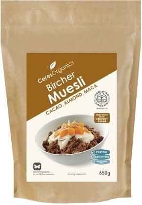 Ceres Organics Bio Bircher Muesli Cacao Almond Maca 650g