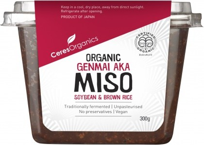Ceres Organics Bio Genmai Aka Miso Soybean & Brown Rice 300g