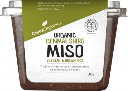 Ceres Organics Bio Genmai Shiro Miso Soybean & Brown Rice 300g