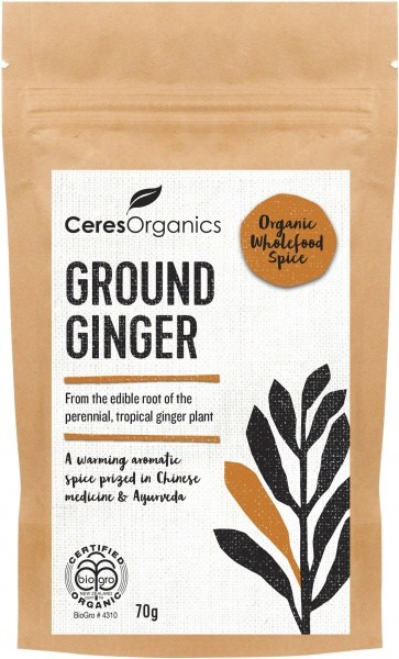 Ceres Organics Bio Ground Ginger Powder 70g