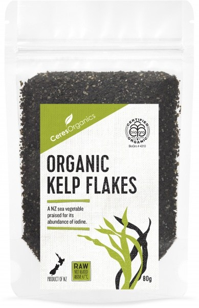 Ceres Organics Bio Organic Kelp Flakes Raw 80g