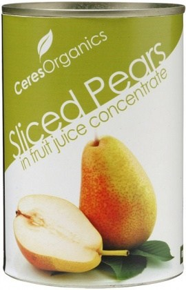 Ceres Organics Bio Pear Slices Can 425g