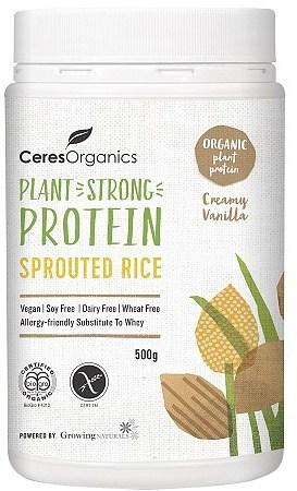 Ceres Organics Bio Sprouted Rice Protein Creamy Vanilla 500g