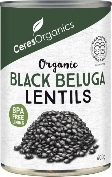 Ceres Organics Black Beluga Lentils 400g (Can)
