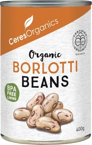 Ceres Organics Borlotti Beans 400g (Can)