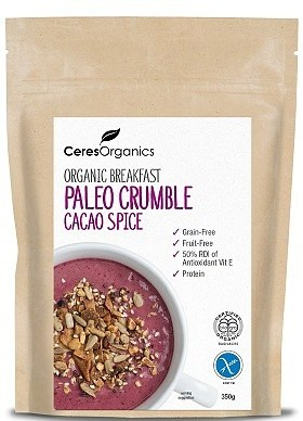 Ceres Organics Breakfast Paleo Crumble Cacao Spice 350g