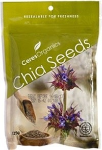 Ceres Organics Chia Seeds Black 125g