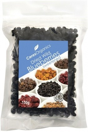 Ceres Organics Dried Blueberries Sweetened 150g