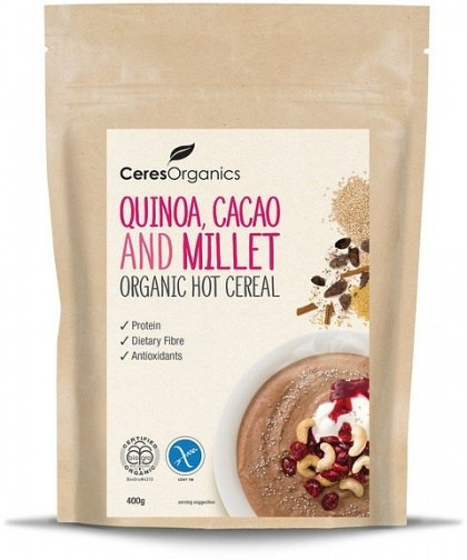 Ceres Organics Hot Cereal Quinoa Cacao & Millet 400g
