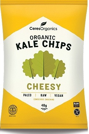 Ceres Organics Kale Chips Cheesy 8x40g