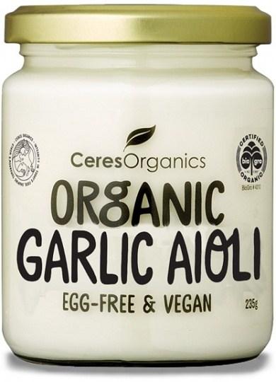 Ceres Organics Organic Garlic Aioli Egg Free 235g