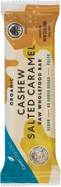 Ceres Organics Organic Raw Food Bar Cashew Salted Caramel 50g