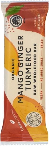 Ceres Organics Organic Raw Food Bar Mango Ginger Turmeric 50g