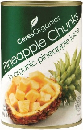 Ceres Organics Pineapple Chunks 400g (can)