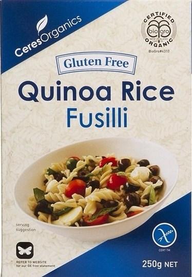 Ceres Organics Quinoa Fusilli Pasta  250g