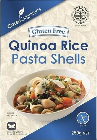 Ceres Organics Quinoa Pasta Shells   250g
