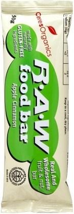 Ceres Organics Raw Food Bar Apple Cinnamon 16x50g