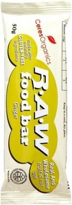 Ceres Organics Raw Food Bar Ginger 16x50g
