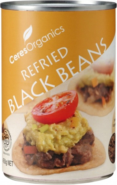 Ceres Organics Refried Black Beans 450g (can)