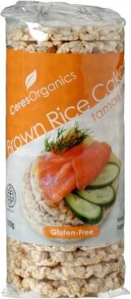 Ceres Organics Rice Cakes Tamari Soy 110g