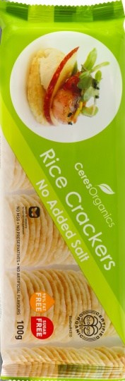 Ceres Organics Rice Crackers No Added Salt 100g