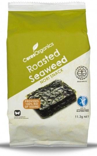 Ceres Organics Roasted Seaweed Nori Snack 11.3g