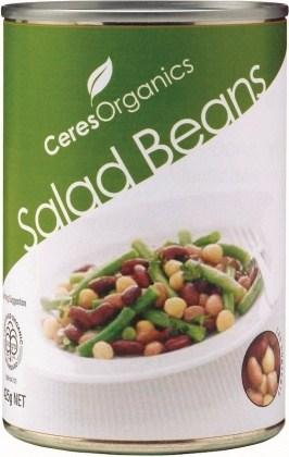Ceres Organics Salad Beans 425g (Can)