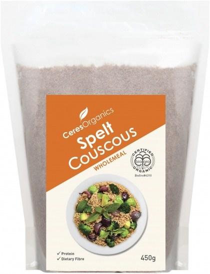 Ceres Organics Spelt Cous Cous Wholemeal 450g