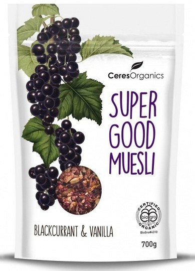 Ceres Organics Super Good Muesli Blackcurrent & Vanilla 700g