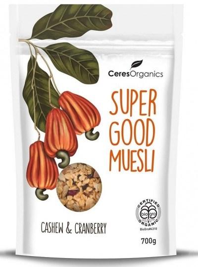 Ceres Organics Super Good Muesli Cashew & Cranberry 700g