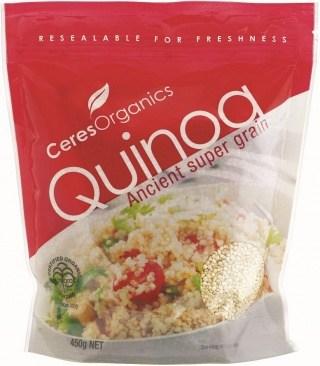 Ceres Organics White Quinoa Grain 450g