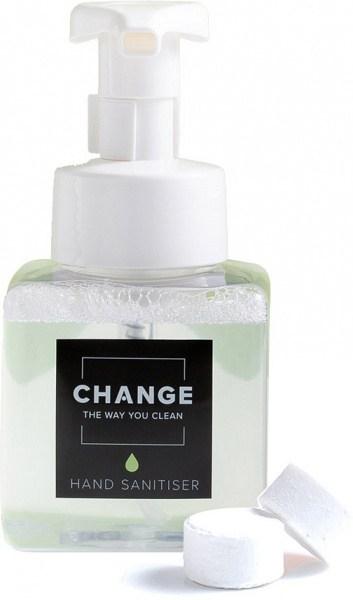 Change Hand Sanitiser Cleaning Tablets - Dispenser Kit (2 Tablets + Pump Bottle)