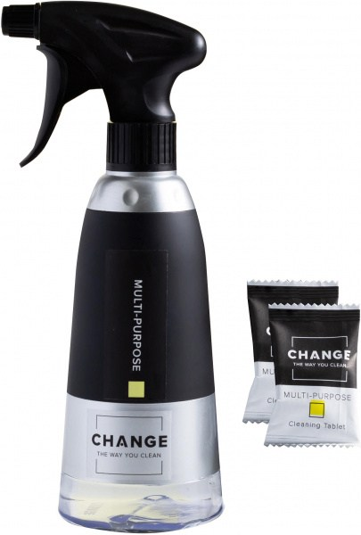 Change Multi-Purpose Cleaning Tablets - Starter Kit (2 Tablets + Bottle)