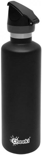 Cheeki Active Insulated Bottle Matte Black 600ml