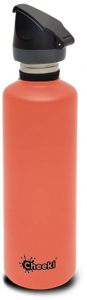 Cheeki Active Single Wall Bottle Coral 750ml