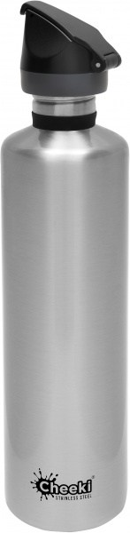 Cheeki Active Single Wall Bottle Silver 1L