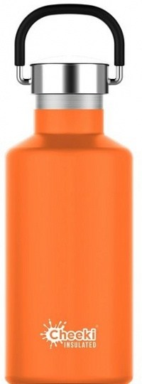 Cheeki Classic Stainless Steel Insulated Orange Bottle 400ml