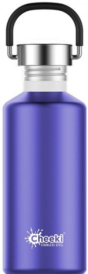 Cheeki Classic Stainless Steel Lavender Bottle 500ml