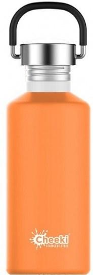 Cheeki Classic Stainless Steel Orange Bottle 500ml
