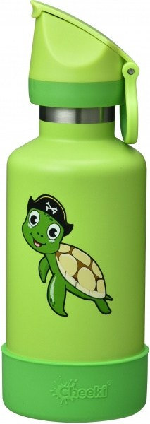 Cheeki Insulated Kids Bottle Turtle 400ml