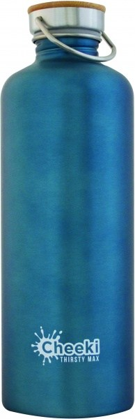 Cheeki Stainless Steel Bottle Thirsty Max Teal 1.6L